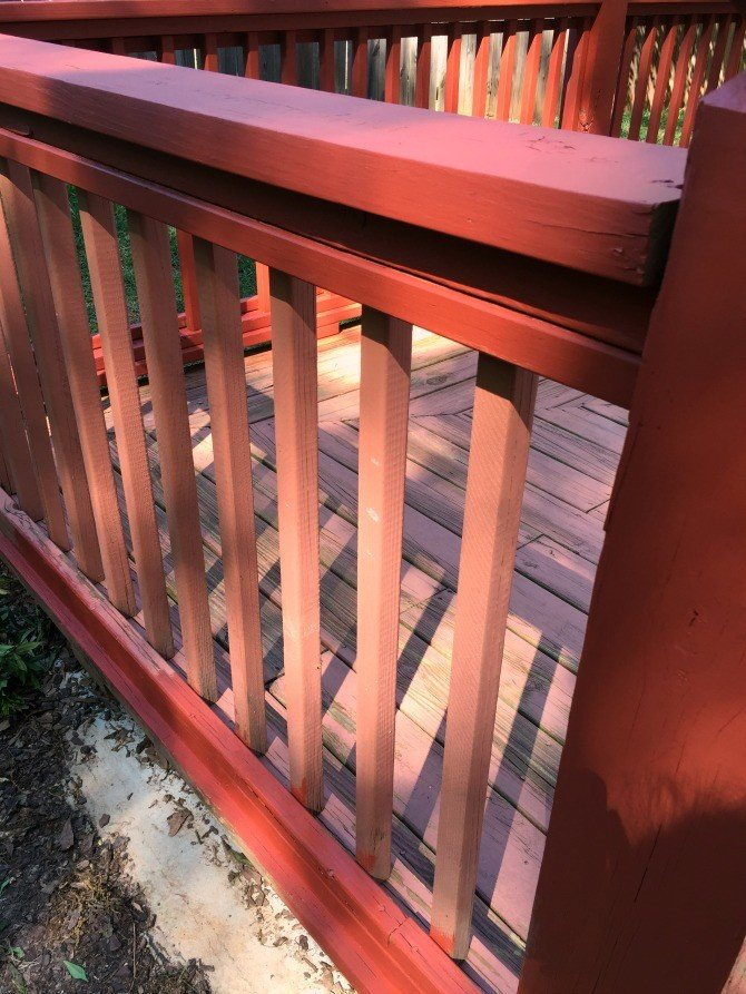 old rails vs new rails stained