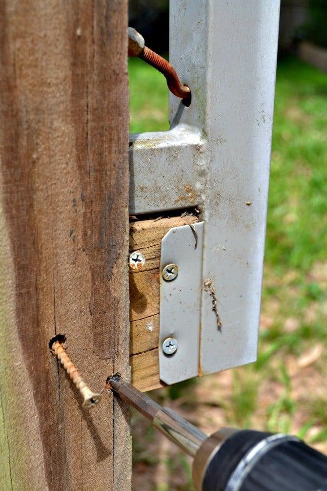 remove old screws