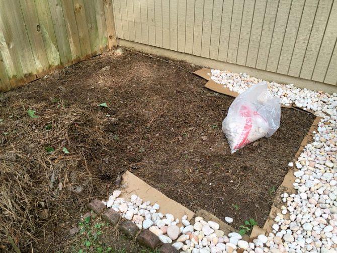 air conditioner flowerbed