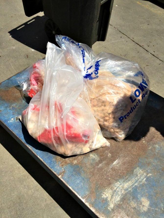 get discounts on broken bags of landscaping rock