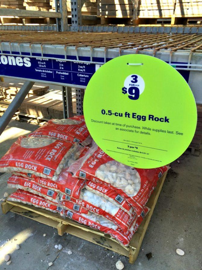 lowes sale on egg rock