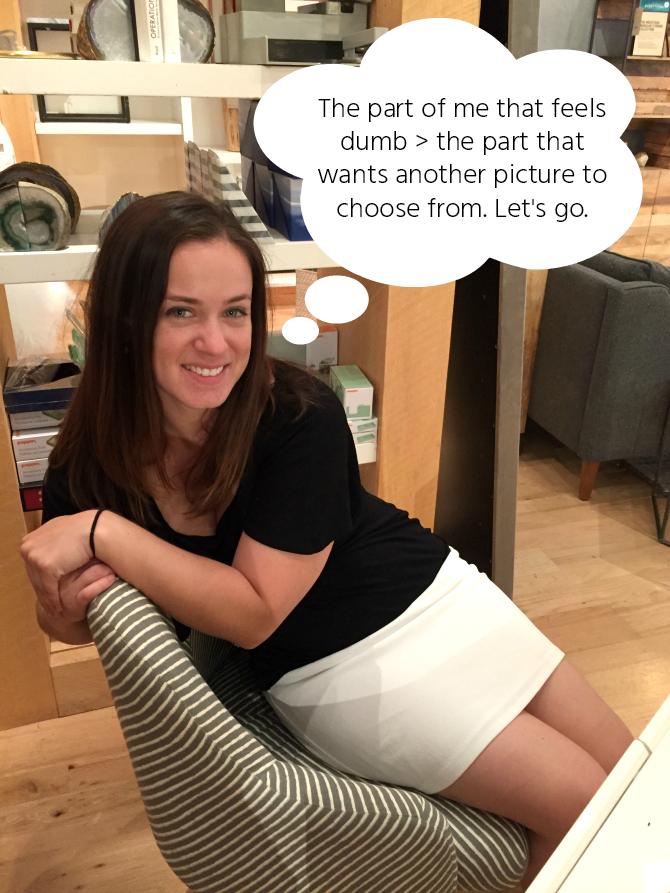 super awkward chair pose west elm