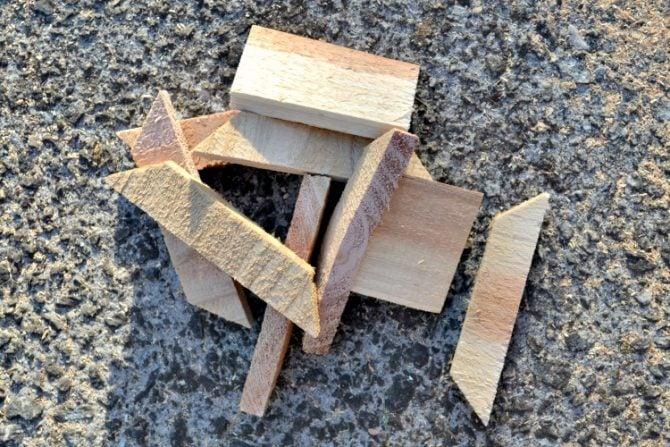 dont throw cedar scraps away