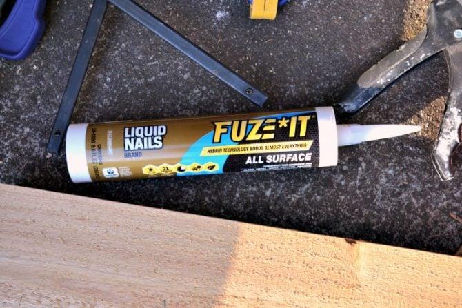 liquid nails fuze it indoor outdoor