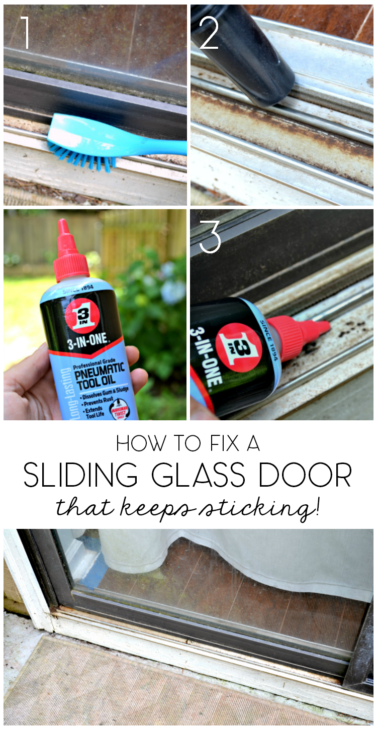 5 Minute Fix Unsticking The Sliding Glass Door Ugly Duckling House