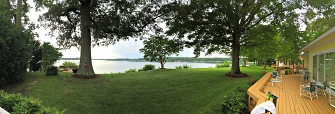 Deltaville Virginia river house panorama