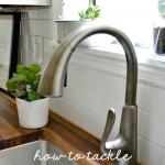 how to tackle water spots on butcher block counters
