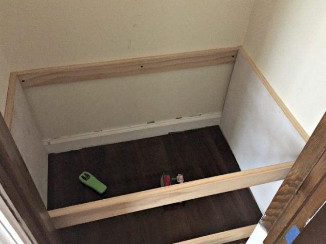 installing closet storage