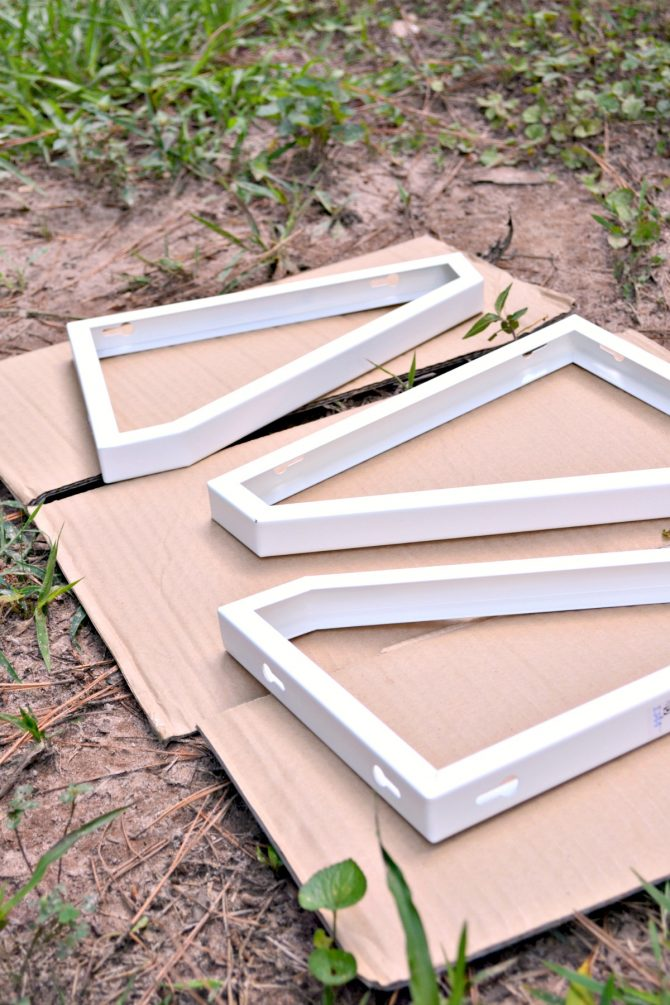 3-Unpainted Shelf Supports Before