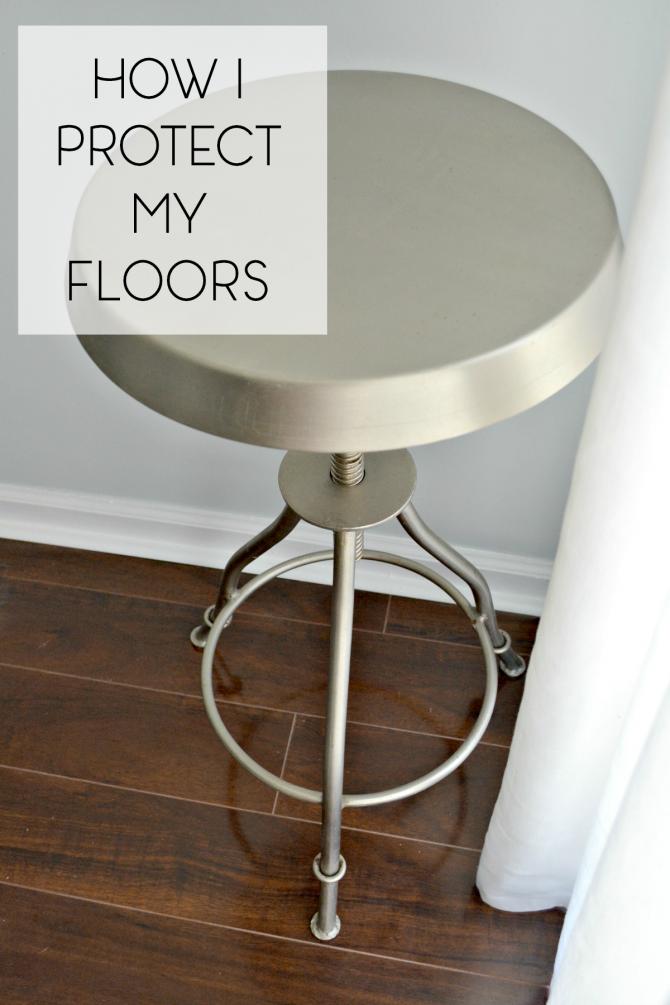 Pinterest2- how I protect my floors