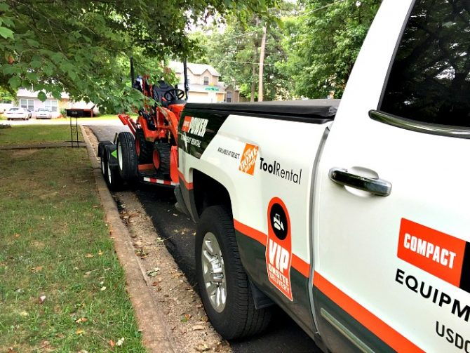 compact power equipment rental dropoff