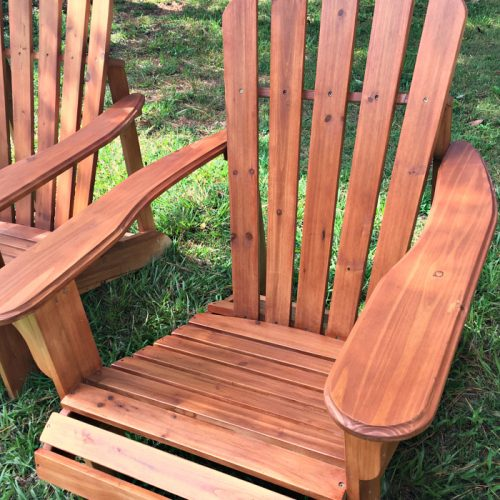 new stained Adirondack chairs 2