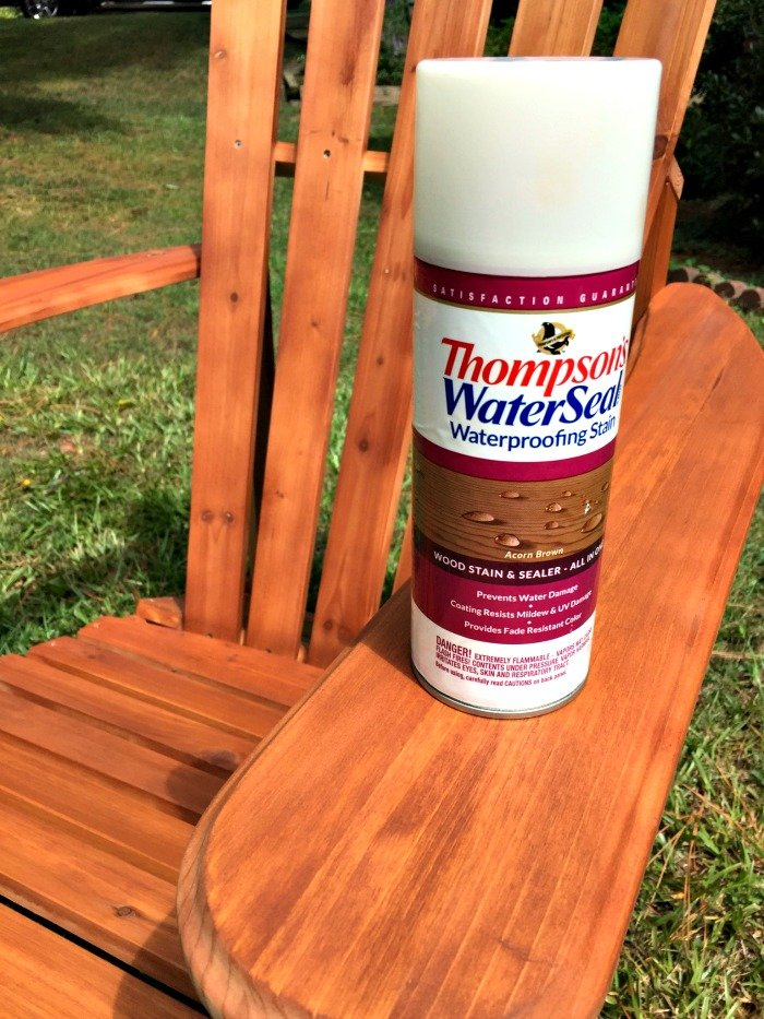 spray sealer is way easier than wipe on for adirondack chairs