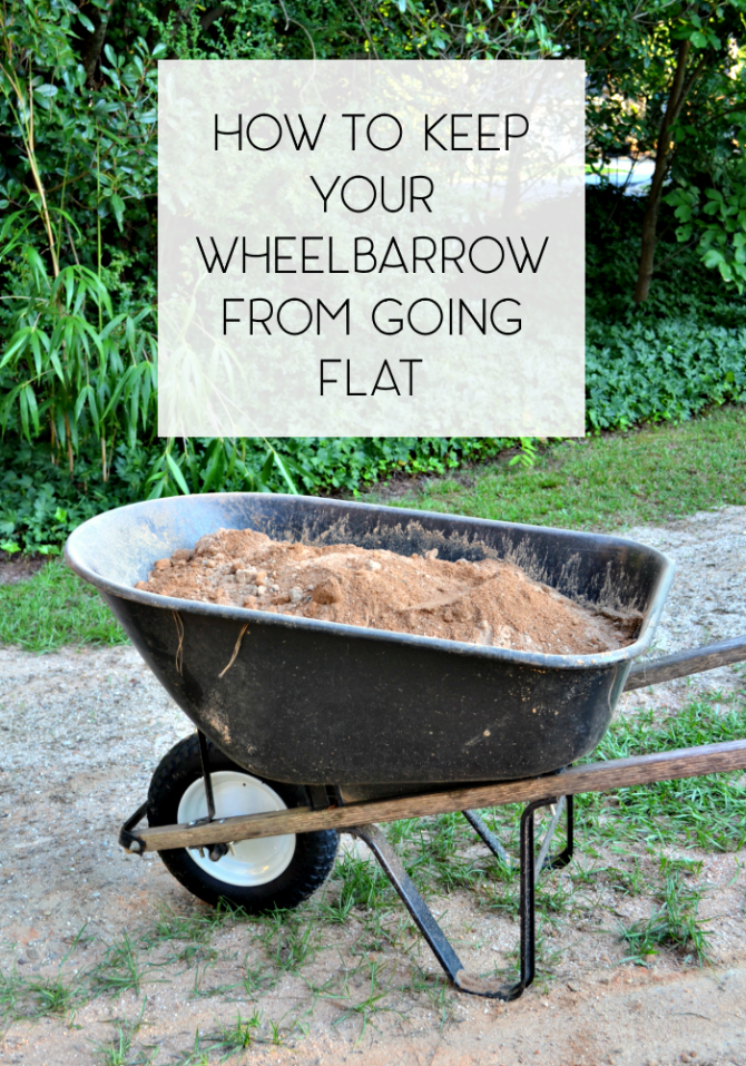 universal tire wheelbarrow full of dirt