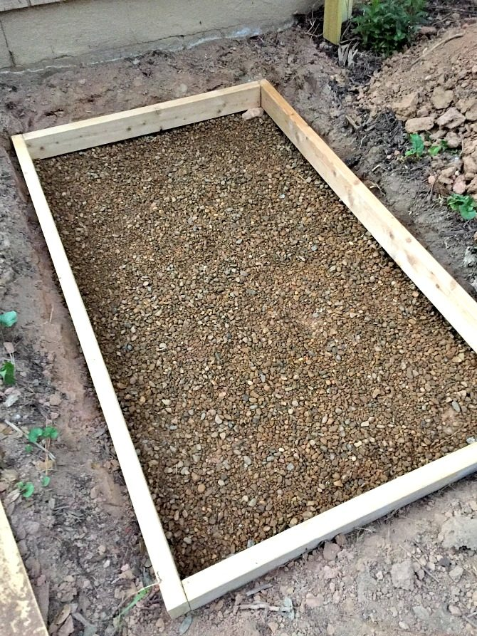 spread-and-compact-gravel-inside-frame
