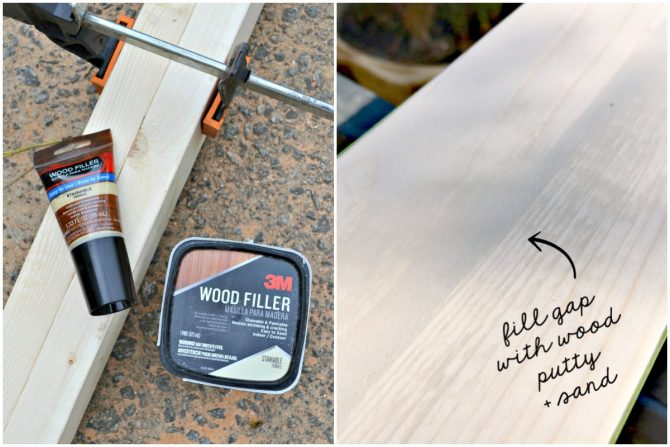 fill-gap-with-wood-putty-and-sand
