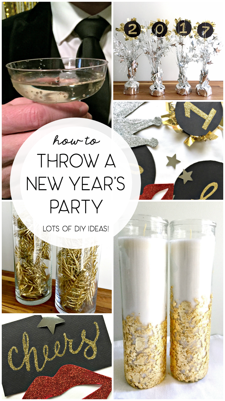 New Year's Eve Decorating Ideas from the Dollar Store