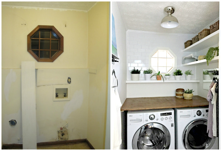 Laundry Room Counters Part - 29: Laundry Room Makeover Before And After