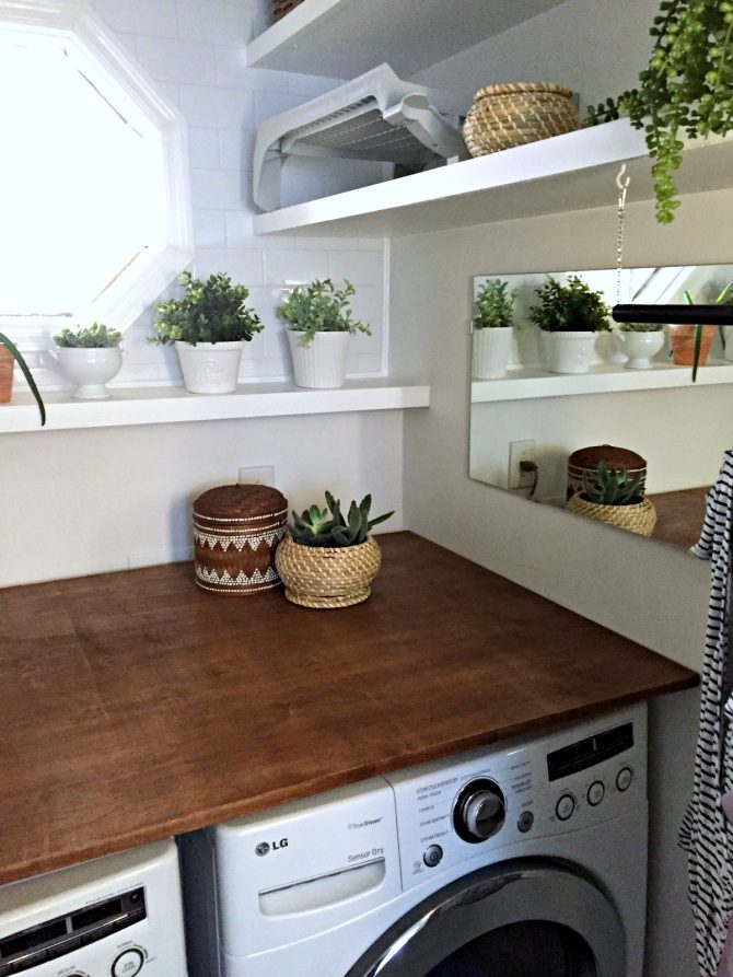 laundry room reveal A Modern and Plant Filled