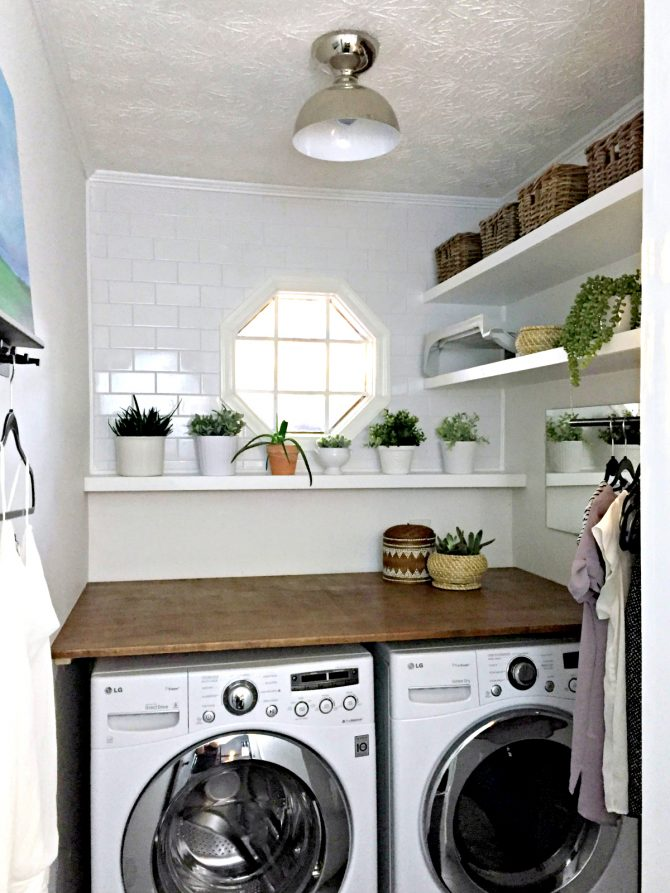 laundry room makeover A Modern and Plant Filled