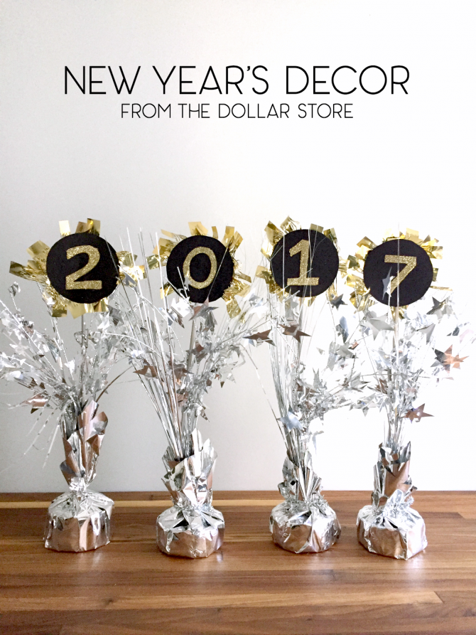Dollar Store New Years Decor 2017