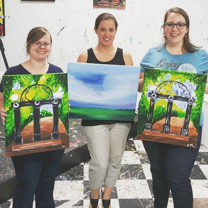 finished paintings from Girls Night Out