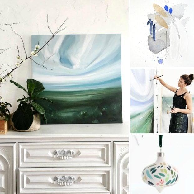 Laundry Room Makeover: Art Inspired by Emily Jeffords