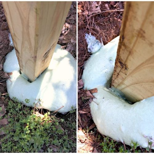 Fence Post Foam vs. Concrete