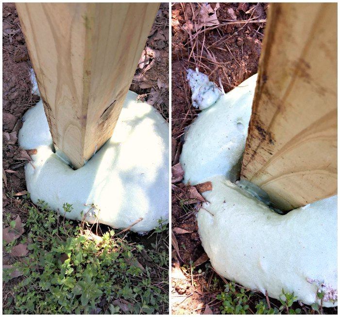 How Not To Anchor A Fence Post Expanding Foam Fence Post