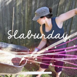 Slaburday: Laying a Concrete Slab for Trash Bins