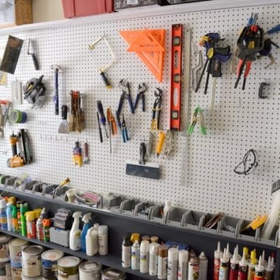 diy garage pegboard wall