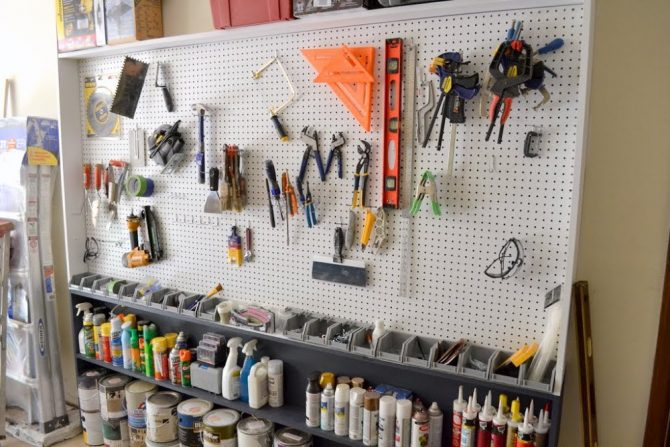 diy garage pegboard wall