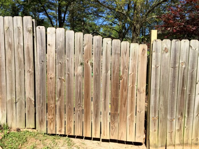 fixed fence gate that can now open properly