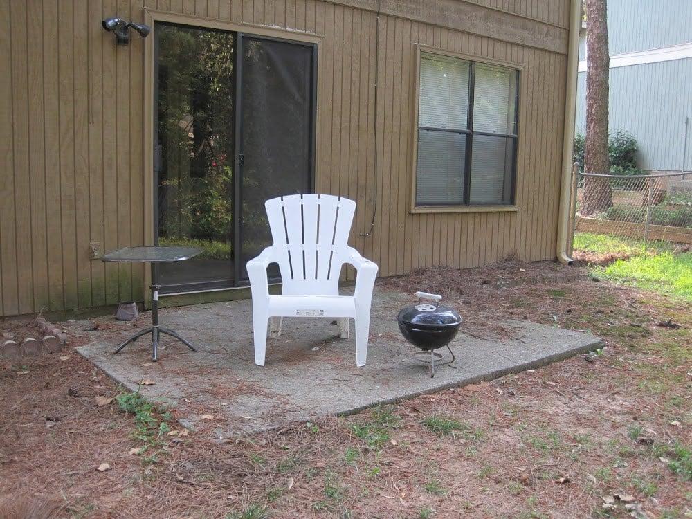 old backyard patio 2009