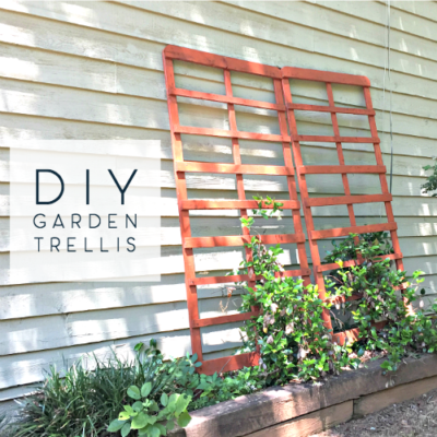 diy repurposed garden trellis from bed frame