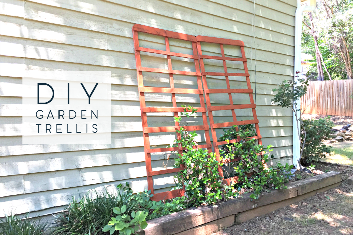 diy repurposed garden trellis