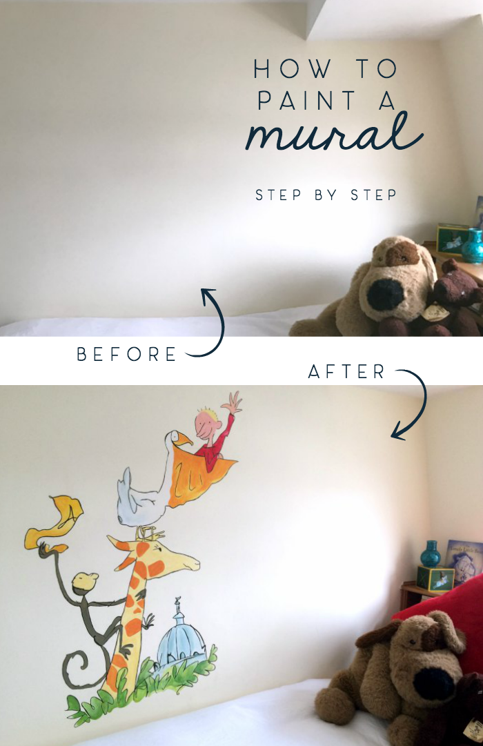 how to paint a mural step by step