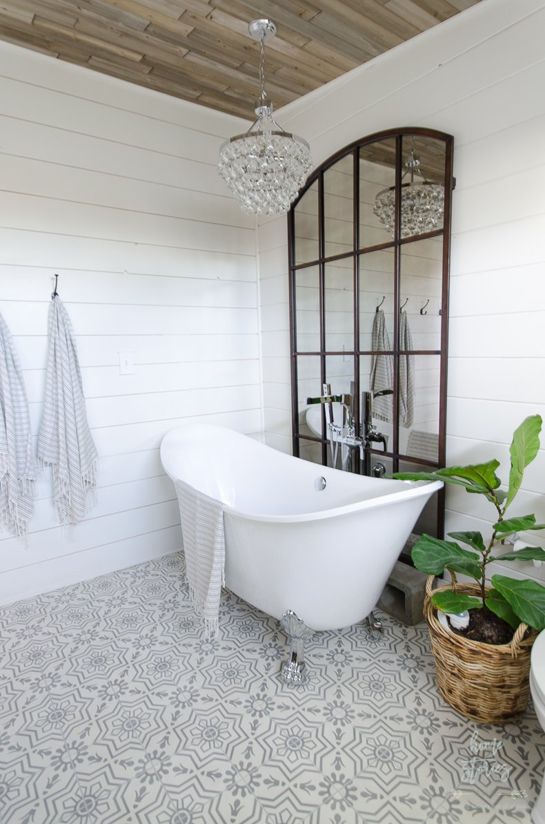 Timeless home decor trends is there such a thing the for Modern farmhouse bathroom ideas