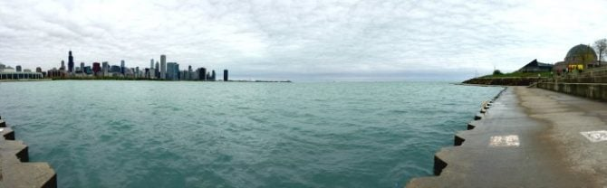 Chicago skyline waterline