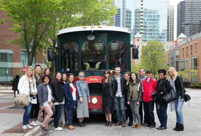 Trolley tour of Chicago