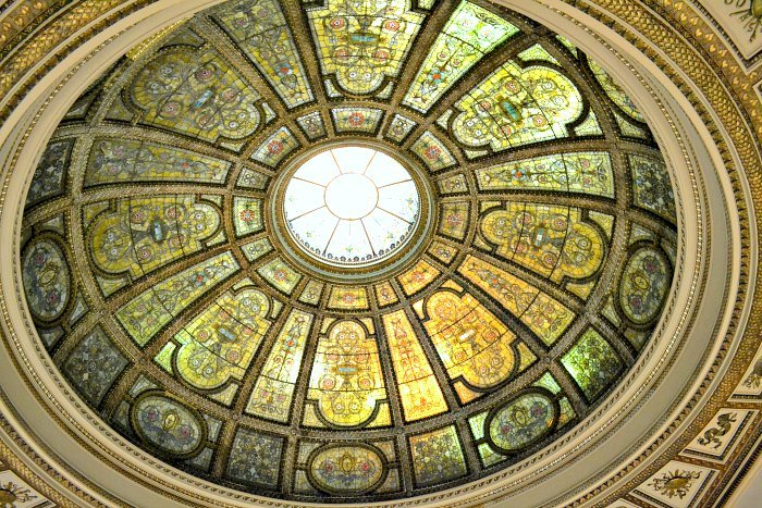 beautiful stained glass ceilings