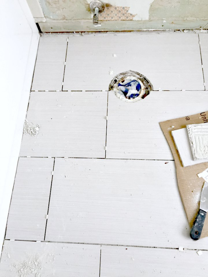 correcting as much as possible in master bath tile floor