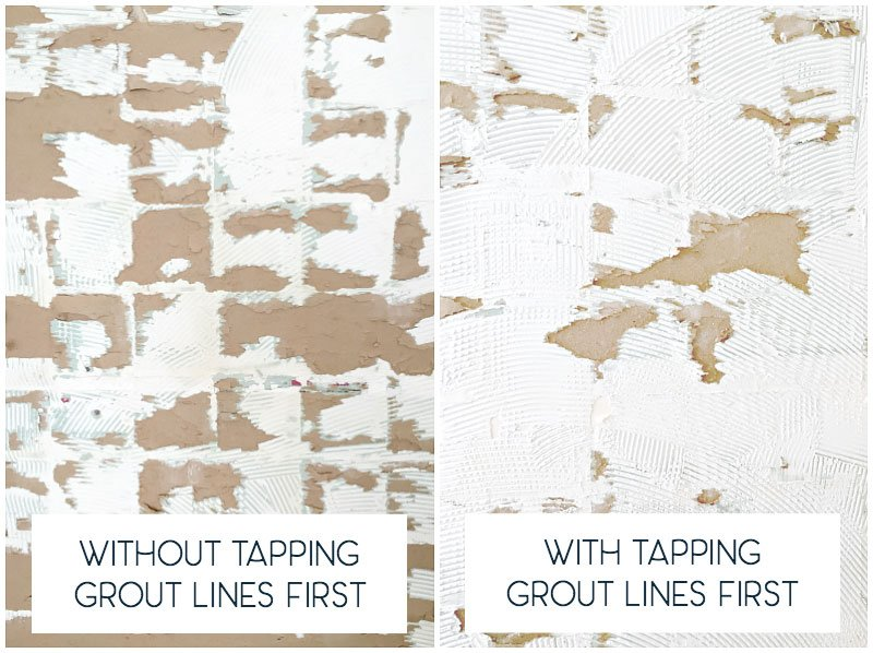 dislodging-old-shower-tiles-easily-by-tapping-the-grout-lines-with-a-putty-knife-blade-first