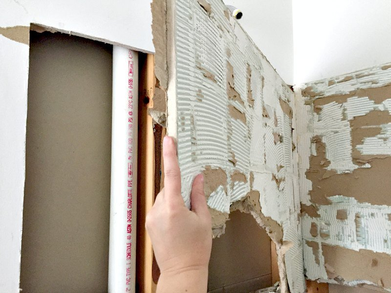 drywall coming off in large chunks