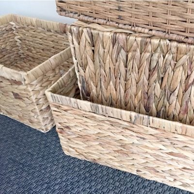 Where I Get Cheap (But Pretty) Storage Baskets