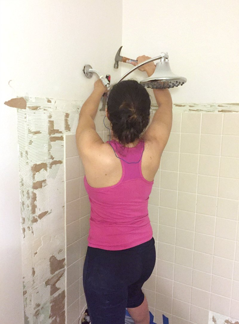 how to remove old tile from bathroom wall removing shower tile tile design ideas 26425