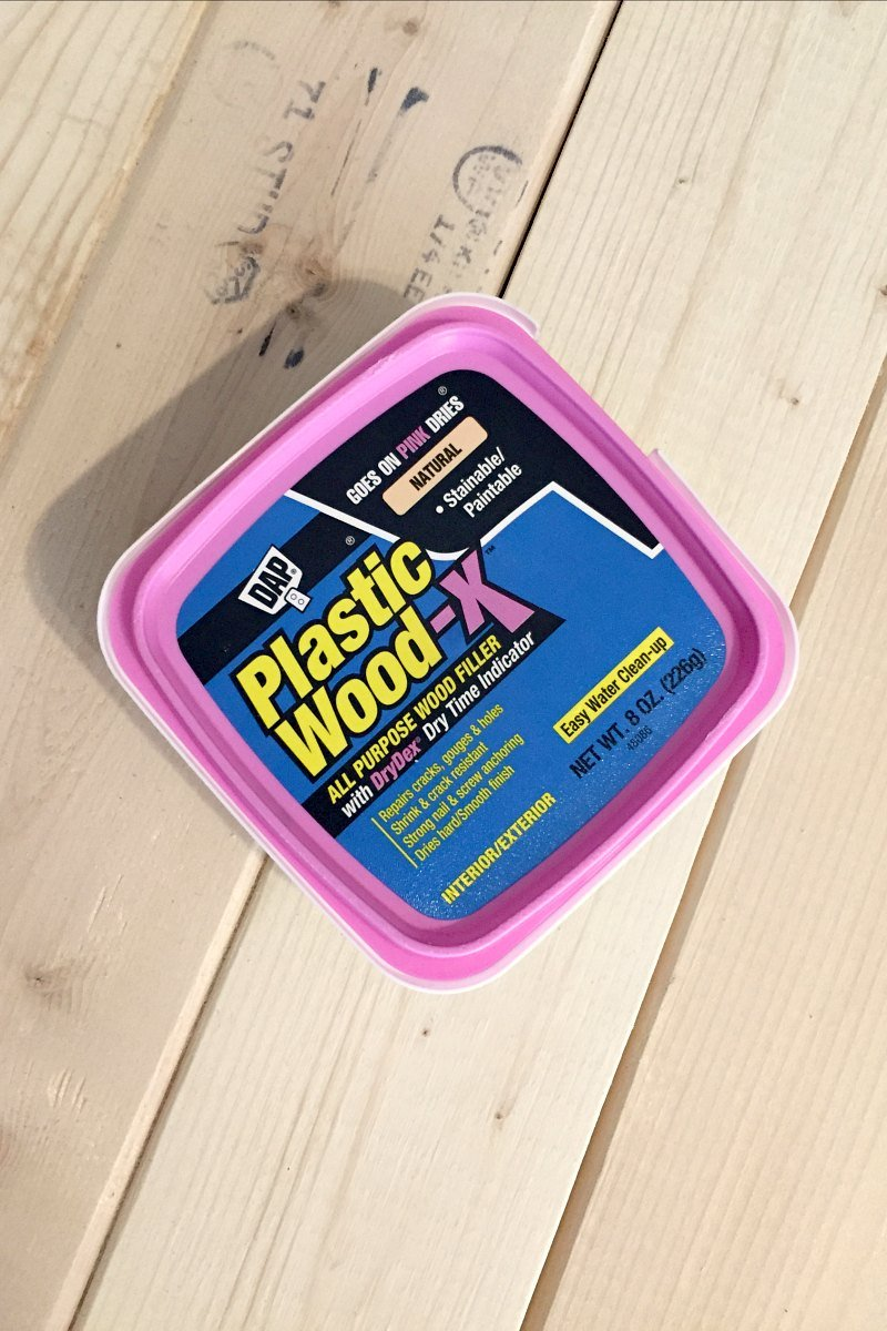dap plastic wood goes on pink dries natural