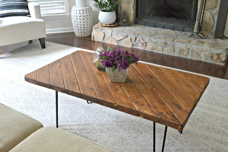 diy hairpin leg coffee table 2x4andmore challenge - 1