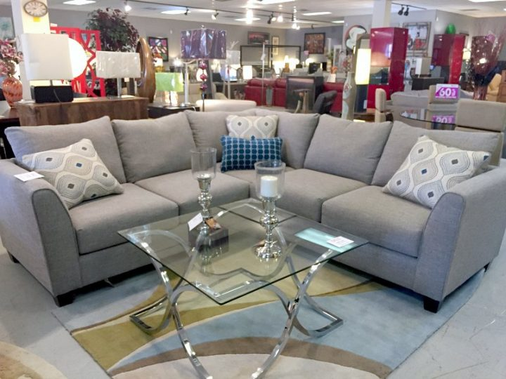 gray sectional in store