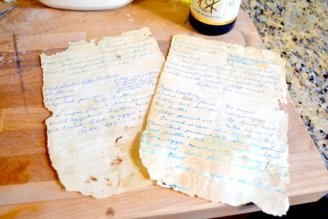 great grannys handwritten cookie recipes